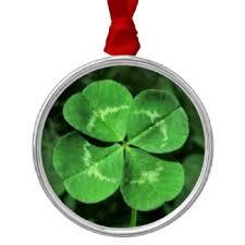 four leaf clover ornaments keepsake ornaments zazzle