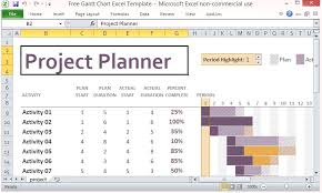 Project Templates In Excel Free Gantt Chart Excel Template