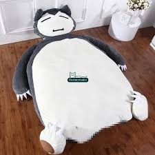 Beanbag Bed Dorimytrader 230cm X 135cm Large Soft Plush Cartoon Snorlax