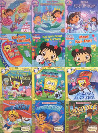 12 mini books dora explorer diego spongebob kai lan stocking
