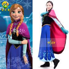 Princess Anna Halloween Costume Women Frozen Anna Coronation Dresses Party Princess Anna
