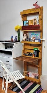 computer desk made out of pallets u0026 office shelf 101 pallet ideas