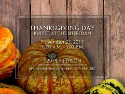 join us for our thanksgiving buffet va thanksgiving