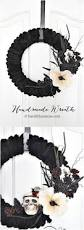 Black Halloween Wreath Diy Halloween Wreaths Halloween Door Decoration Ideas For