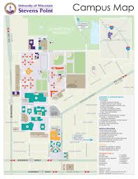 Printable Map Of Wisconsin by Parking Map About Uwsp Uwsp
