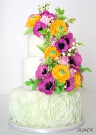 flower garden wedding cake susucre