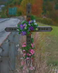 memorial crosses for roadside roadside memorial photograph by gregory