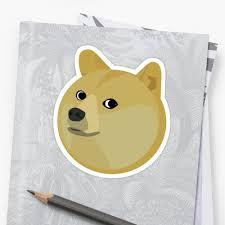 Doge Dog Meme - doge dog meme stickers by caroline voigt redbubble