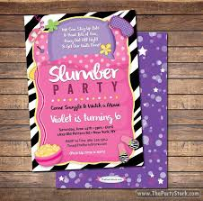 slumber party invitation sleepover invitation sleepover