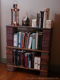 how to build a brick book shelf how to distress furniture