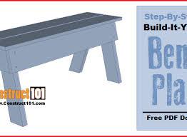planter bench plans pdf download construct101