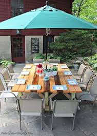 Patio Table Seats 10 Round Outdoor Table We Have A Great Spot For An Outdoor Round