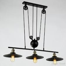 Pulley Pendant Light Rh Lighting Retro Iron Pulley Pendant Light Loft Vintage