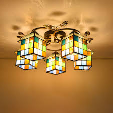 stained glass dining room light mediterranean tiffany baroque stained glass suspended luminaire