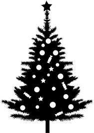 christmas tree silhouette free vector silhouettes