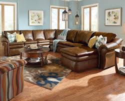 plush sectional sofas 5 piece sectional with las chaise and 2 recliners by la z boy