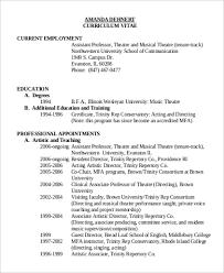 musical theatre resume template free theatre director resume