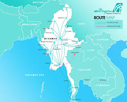 Airline Routes Map by Route Map Air Bagan