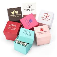personalized wedding favor boxes wedding gifts personalized square favor boxes 1181974 weddbook