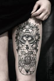 girly leg tattoo designs all seeing eye owl tattoo google search all seeing eye