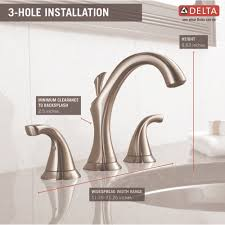 delta faucet 3592lf ss addison brilliance stainless two handle