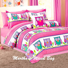 details about nature hoot owls girls pink lavender twin full size
