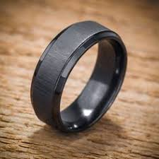 matte black mens wedding bands items similar to bronze and gray titanium band wedding or