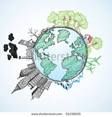 green world concept tree on earth stock vector 255006457