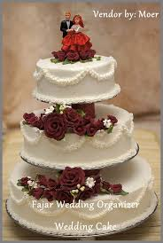 wedding cake harga wedding cake fajar wedding organizer balikpapan