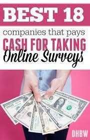 best companies that pays cash for taking online surveys