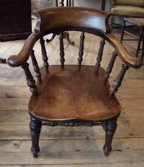 Oak Spindle Back Dining Chairs Oak Spindle Back Dining Chairs Antique Captains Chair Th Century