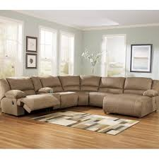 Recliner And Chaise Sofa by Ashley Hogan Sectional With Two Recliners And Right Arm Facing