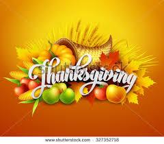illustration thanksgiving cornucopia harvest fruits stock