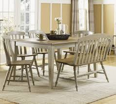 Light Oak Dining Room Sets Vintage Dining Room With Maple Wood High Back Bench Dining Room
