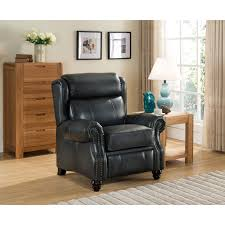 High Back Leather Recliner Chair Furniture Wing Back Recliner Will Add Comfort And Style In Your
