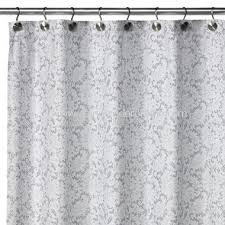 Silver Shower Curtains Wholesale 2 In 1 Victorian Fabric Shower Curtain White Silver