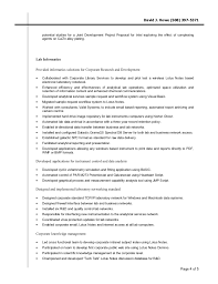 Chemistry Resume Example by David J Howe Resume Cv Lab Informatics Chemist Http Www Li U2026