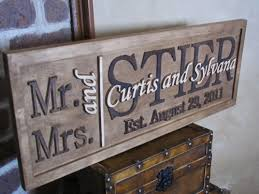 wedding gift signs personalized family name signs custom wedding gift carved wooden
