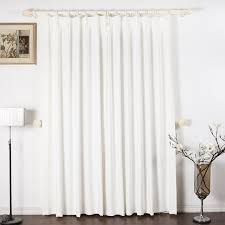 pure white fancy curtains and white curtain bar also simple white