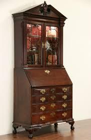 Cherry Secretary Desk With Hutch by Sold Jasper Signed Vintage Cherry Secretary Desk U0026 Bookcase