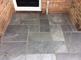 Outdoor Slate Patio Exterior Slate Patio Paving Tile Renovation In Thatcham