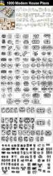 1000 modern house autocad plan collection u2013 architectural cad drawings