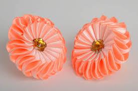 madeheart u003e set of 2 designer homemade hair bands with peach