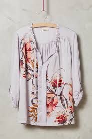 meadow rue evella blouse in pink lyst