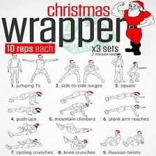 christmas wrapper christmas wrapper workout plan healthy santa fitness