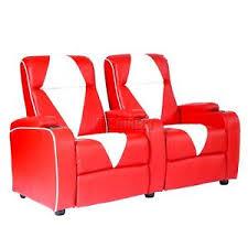 canapé 2 places electrique foxhunter en cuir rétro cinéma fauteuil canapé 2 places