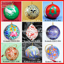dance of tanzania hand painted christmas baubles paper mache