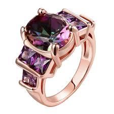 amazon com bamos jewelry womens amazon com swarovski gemstone emerald cut personalized amethyst