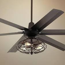 Ceiling Fan With Cage Light Wonderful Ceiling Fan With Cage Light Amazing Inch Rustic