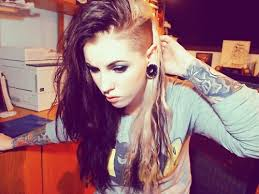 extension in shaved back and side hair i m going to go back to my shaved side hair look the extensions